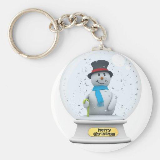 Snowman Snow Globe Keychains
