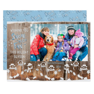 "Snowman ""Snow Much Fun"" with Single Photo Card"
