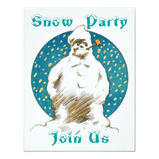 SNOWMAN SNOW WINTER FUN ~ PARTY INVITATION INVITE