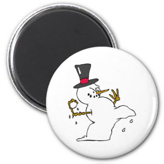 Snowman Snowball Fight Magnet
