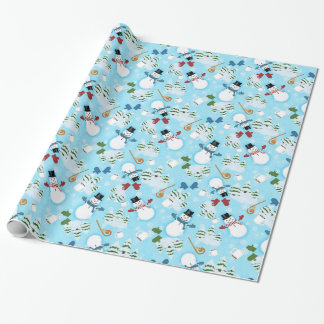 "Snowman Snowday Glossy Wrapping Paper, 30"" x 6'"