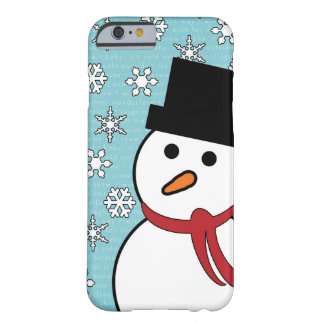 Snowman & Snowflakes Winter iPhone 6 Case