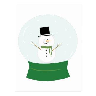 Snowman Snowglobe Postcard