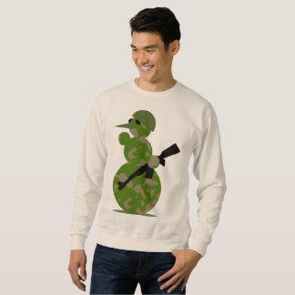 snowman soldier mens christmas xmas sweatshirt