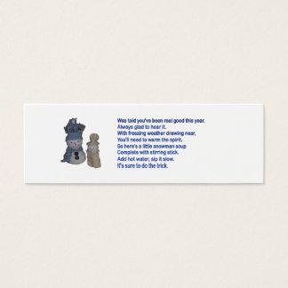 Snowman Soup Mini Business Card