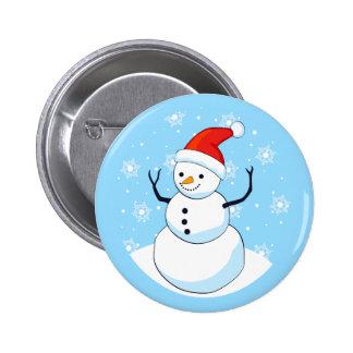 Snowman Standard, 2¼ Inch Round Button