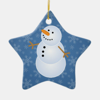 Snowman Star Family Holiday Ornament