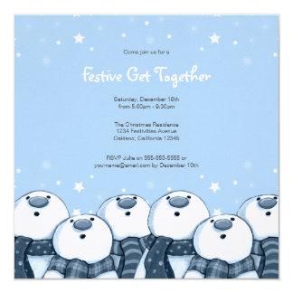 Snowman Stargazers | Festive Party Invites