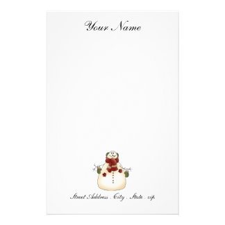 Snowman Stationery