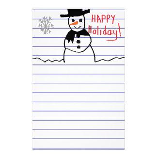 Snowman Stationery