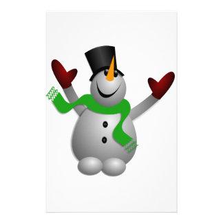 Snowman Stationery Design