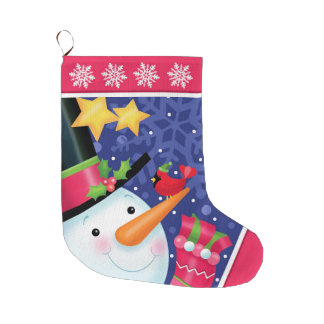 Snowman Stocking Large Christmas Stocking