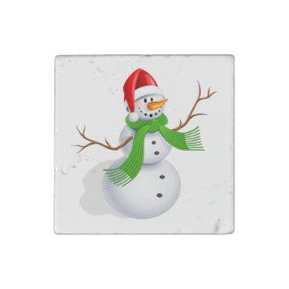 Snowman Stone Magnets