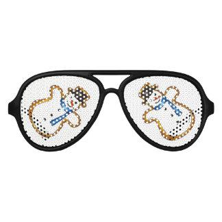 Snowman Sugar Cookie Hanukkah Christmas Holiday Aviator Sunglasses