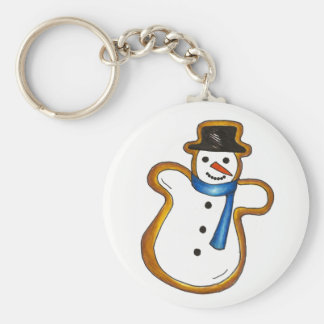 Snowman Sugar Cookie Hanukkah Christmas Holiday Keychain