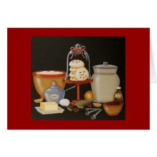 Snowman Sugar Cookie Recipe Card