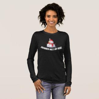 Snowman Themed Long Sleeve T-Shirt