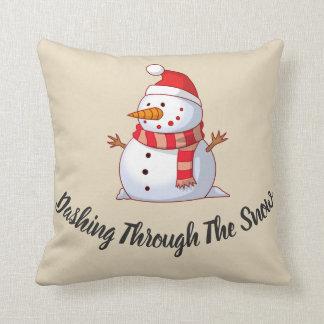 Snowman Themed Throw Pillow