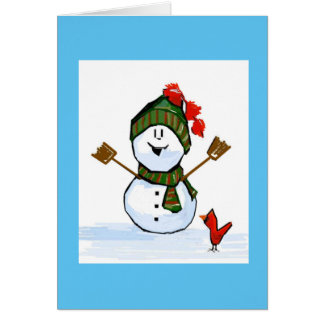 Snowman Thinking of You Card