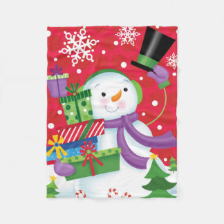 Snowman Tipping His Hat Blanket