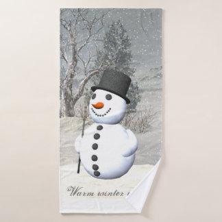 Snowman towel set