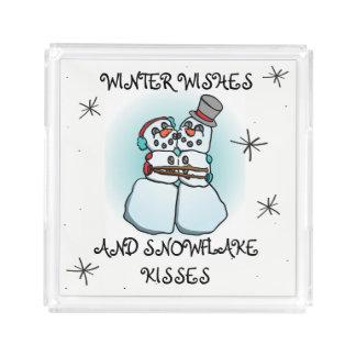 Snowman Tray