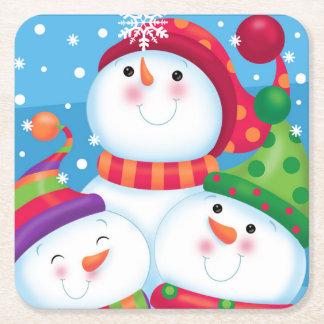 Snowman Trio Coaster