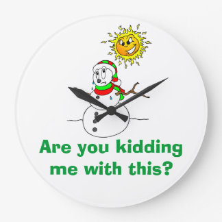 Snowman Trouble Are You Kidding Me With This Clock