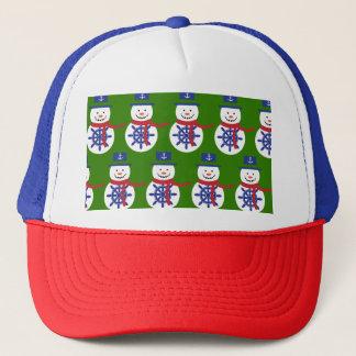 Snowman Trucker Hat