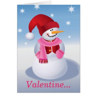 Snowman Valentine Card