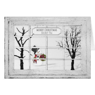 Snowman View-Window - Christmas - Secret Pal Card