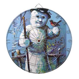 Snowman - vintage-santa-christmas-post-cards-0063 dartboard