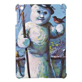 Snowman - vintage-santa-christmas-post-cards-0063 iPad mini case