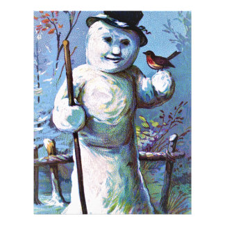 Snowman - vintage-santa-christmas-post-cards-0063 letterhead