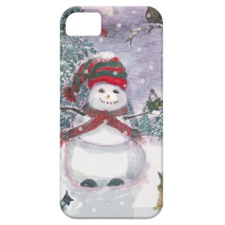 Snowman Watercolor art iPhone 5 Cover