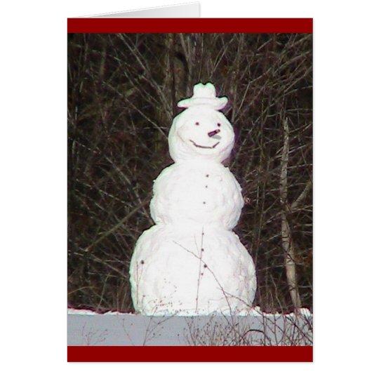 Snowman ( WestCreek) Holiday Card