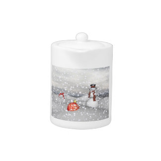 snowman white and gift