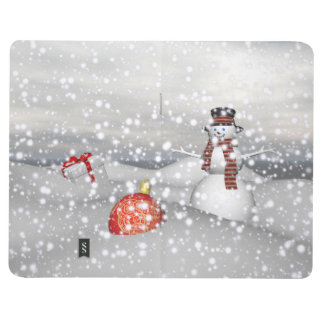 snowman white and gift journal