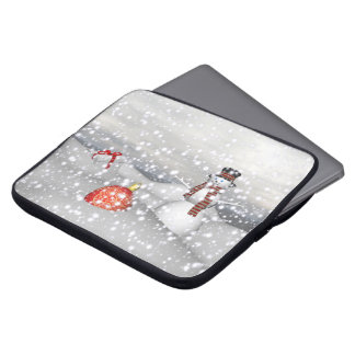 snowman white and gift laptop sleeve