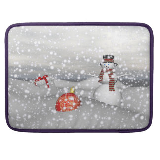 snowman white and gift sleeves for MacBooks