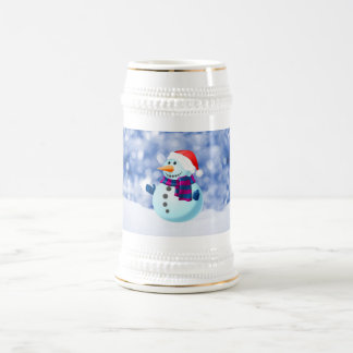 Snowman Winter Merry Christmas Snow Beer Stein