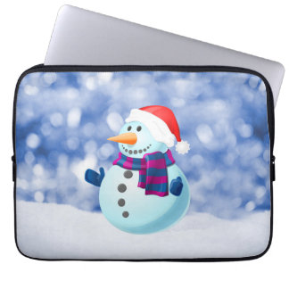 Snowman Winter Merry Christmas Snow Computer Sleeves