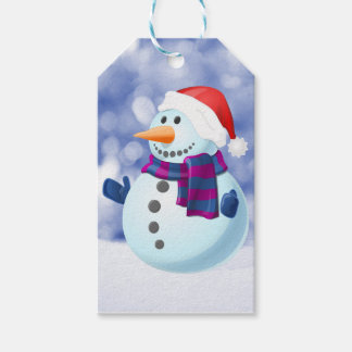 Snowman Winter Merry Christmas Snow Pack Of Gift Tags
