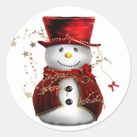 snowman winter stickers sheet