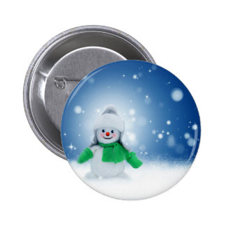 Snowman Wishes 2 Inch Round Button