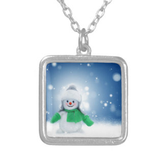 Snowman Wishes Silver Plated Necklace