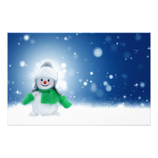 Snowman Wishes Stationery Paper