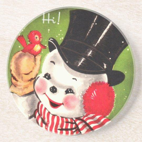 Snowman with Bird Coaster