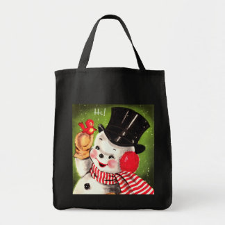 Snowman with Bird Tote Bag