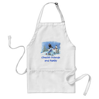 Snowman with Birds Standard Apron